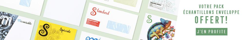 Jusqu'au 11/06/2018, le pack échantillons vous est remboursé sur votre commande d'enveloppes
