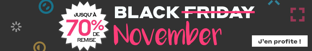 Black November, jusqu'à -70% de réduction !