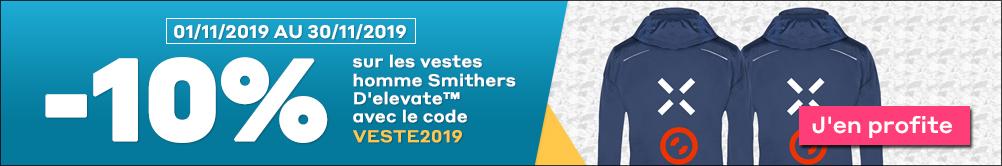 -10% sur les vestes Homme Smithers D'elevate™ avec le code VESTE2019