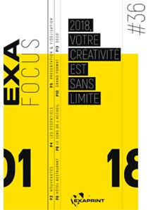 Exafocus #36 :  2018, votre créativité est sans limite