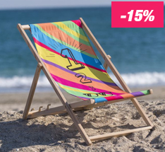 -15 % sur les chaises longues personnalisées à imprimer